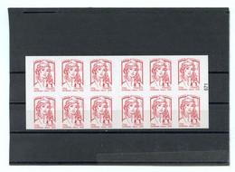 France - Carnet Marianne Ciappa - Couverture : Livre Des Timbres - Neuf** Non Plié - 12 TVP LETTRE PRIO - Standaardgebruik