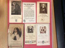 6 Relique Relikwie Frere Mutien Marie écoles Chrétiennes Malonne Namur / Sœur Thérèse De L'enfant Jesus Martin *Alençon - Obituary Notices