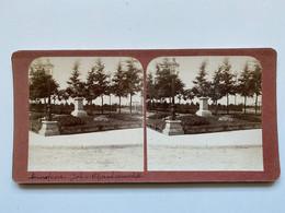 Stereofoto Van Amersfoort, Standbeeld Van Johan Van Oldebarneveldt C. 1910 - Amersfoort