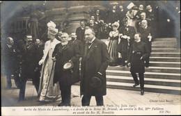 CPA Paris, Roi Et La Reine De Danemark, 15. Juin 1907, Fallières, Briand, Beneditte - Koninklijke Families