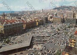 CARTOLINA  NAPOLI ,CAMPANIA,PIAZZA GARIBALDI,MEMORIA,VESUVIO,LUNGOMARE,CULTURA,STORIA,RELIGIONE,VIAGGIATA 1977 - Napoli (Napels)