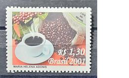 Brasil - 2001 -as Scan - Coffee From Brasil - 1 Stamp - Neufs