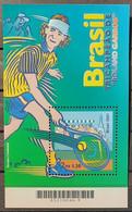 Brasil - 2001 - MNH As Scan - Brasil Three Times Champion Of Roland Garros - 1 Souvenir Sheet Of 1 Stamp - Neufs