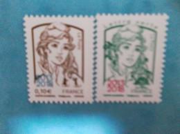 TIMBRE : No: 5234 + 5235 , MARIANNE Et La JEUNESSE , SURCHARGEES 2013-2018 , XX , En Bon état - Unused Stamps