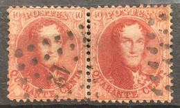 Medaillon 16A Gestempeld LP12 IN PAAR - 1863-1864 Medallions (13/16)