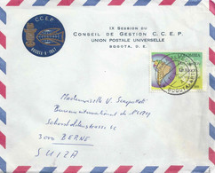 "Airmail Brief  ""Session Du Conseil De Gestion CCEP/UPU, Bogota"" - Bern              1967 - Colombia"