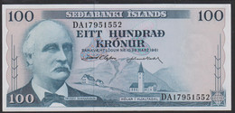 Iceland 100 Kronur 1961 P44a  Signature: D. Olafsson & J. Nordal  UNC - Iceland