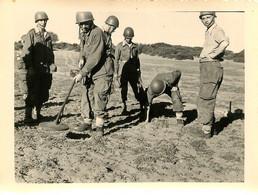 GUERRE D'ALGERIE OUED EL HACHEM DETECTION DES MINES 1955 PHOTO  11.50 X 9 CM - Krieg, Militär