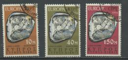 Chypre - Cyprus - Zypern 1974 Y&T N°401 à 403 - Michel N°409 à 411 (o) - EUROPA - Used Stamps