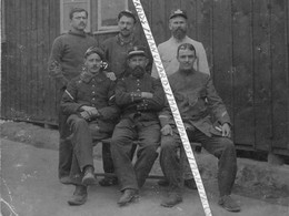 1914-1918  / CARTE PHOTO / CAMP / PRISONNIERS / SALZWEDEL / 26e RI / 14e BATAILLON DE CHASSEURS ALPINS / BCA / CORCIEUX - Guerra, Militari