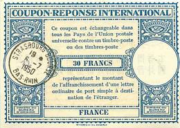 France. Coupon Réponse International N° 25 (Hurtré)  1950 - Antwoordbons