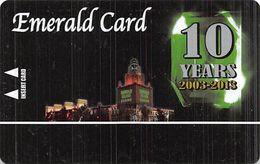 Emerald Island Casino - Henderson NV - BLANK Emerald 10 Yr Anniversary Slot Card - Casino Cards