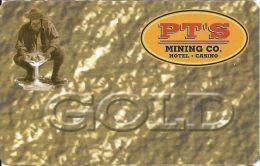 PT's Gaming Henderson NV Gold Slot Card  (BLANK) - Casino Cards