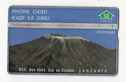 TANZANIE  REF MVCARDS TAN-O-01a 50U MOUNT KILIMANJARO RCG N° 302A Date 1993 - Tanzania