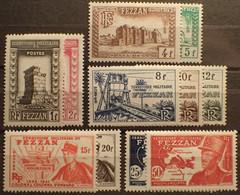 R1507/95 - 1949 - COLONIES FR. - FEZZAN - TERRITOIRE MILITAIRE - SERIE COMPLETE - N°43 à 53 NEUFS** - Neufs