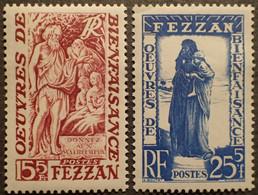 R1507/96 - 1950 - COLONIES FR. - FEZZAN - TERRITOIRE MILITAIRE - N°54 à 55 NEUFS** - Neufs