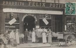 """ABBEVILLE : Carte-photo De La Devanture Du Magasin FELIX POTIN. (superbe) """"16 Litres (de Vin) Pour 15F."""". - Abbeville"""