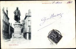 CPA Langres Haute Marne, Statue De Diderot - Other Municipalities
