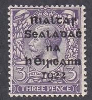 Ireland, Scott #4, Mint Never Hinged, George V Overprinted, Issued 1922 - Unused Stamps