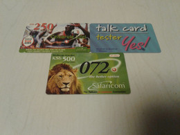Kenya - 3 Nice Phonecard - Kenya