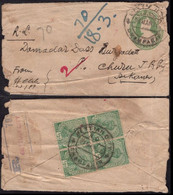 1902 KG VI King Gorge PSE Registered Envolpe From Champaran ( District Near Indo-Nepal Border) With B. O Inde Indien - Cartas