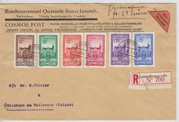 Luxemburg Nr.290-295 Auf R-Brief In Die Schweiz AKs - Covers & Documents