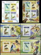 République Démocratique Du Congo - 2823/2826 (BL837) + BL838/841 + BL842 - Insectes - 2013 - MNH - Mint/hinged
