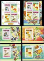 République Démocratique Du Congo - 2827/2830 (BL843) + BL844/847 + BL848 - Insectes II - 2013 - MNH - Mint/hinged