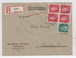 Deutsches Reich R-Brief Mit MIF Der Fa.Walther Fischer Apolda Nach Marienberg AKs - Covers & Documents