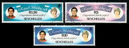 1981 Seychelles Royal Wedding 3 Large Used Stamps - Seychelles (1976-...)