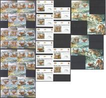 ZZ154 !!! IMPERFORATE, PERFORATE 2012 BURUNDI WILD CATS LES LIONS !!! 12KB+2BL+10 LUX BL MNH - Raubkatzen