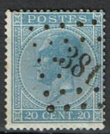 18A  Obl  LP 381  Villers-La-Ville  + 30 - 1865-1866 Profiel Links