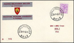 Enveloppe / Envelop / Briefumschlag / Envelope - FBA - BPS8 - Militares (Sellos M)