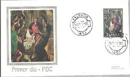 FDC 1970  VALENCIA PINTOR EL GRECO - FDC