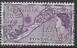 BERMUDA - 1953\6 - CARTA DI BERMUDA - 3D - USATO (YVERT 154 - MICHEL 135) - Bermuda