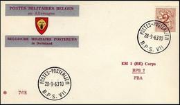 Enveloppe / Envelop / Briefumschlag / Envelope - FBA - BPS7 - Militares (Sellos M)