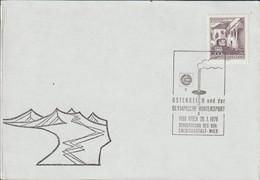 Austria Paper Wien 1976 Österreich Und Der Olympischen Wintersport - Sonderschau  (G123-63) - 1971-80 Cartas