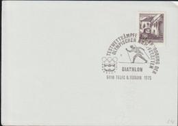 Austria Paper Telfs 1976 Testwttkämpfe Zur Eröffnung Der Olympischen Kampfstätten - Biathlon  (G123-63) - 1971-80 Cartas