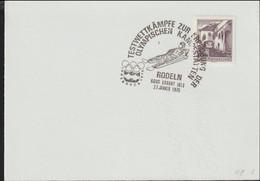 Austria Paper Kurort Igls 1976 Testwttkämpfe Zur Eröffnung Der Olympischen Kampfstätten - Rodeln  (G123-63) - 1971-80 Cartas