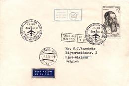 Bratislava Praha Amsterdam New York 1970 - First Flight CSA Erstflug 1er Vol - Ilioutchine 62 - Prague - Sint Niklaas - Cartas