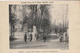 POISSY - Crue De La Seine 1910 : Route Des Falaises, Château De Migneaux - Poissy