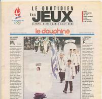 Le Dauphiné Libéré ALBERTVILLE 1992 Le Quotidien Des Jeux XVI° Jeux Olympiques D'Hiver N° 5 Dimanche 9 Février 1992 - 1950 - Today