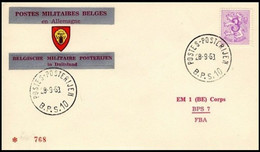 Enveloppe / Envelop / Briefumschlag / Envelope - FBA - BPS10 - Militares (Sellos M)