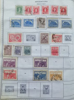 A) 1926-31, ARGENTINA, COLLECTION, LOT OF 28 STAMPS, THE ALBUM PAGE IS NOT INCLUDED INLY THE STAMPS, RIVADAVIA, JOSE FRA - Oblitérés