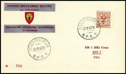 Enveloppe / Envelop / Briefumschlag / Envelope - FBA - BPS5 - Militares (Sellos M)