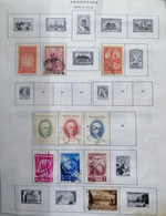 A) 1931-39 ARGENTINA, LOT OF 23, THE ALBUM PAGE IS NOT INCLUDED INLY THE STAMPS, FOUNDATION OF LA PLATA – PUERTO, CITY H - Oblitérés