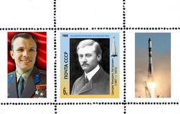 USSR 1986 FOUNDERS OF COSMONAUTICS ZANDER PROOF - Unused Stamps