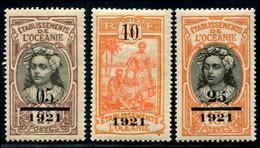 Lot N°A561 Colonies Océanie N°44/46 Neuf * Qualité TB - Neufs