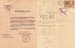 """Document -      """"  Cachet: Le Chef D'Etat Major De L'Allier- F.F.I """"- - Documents"""