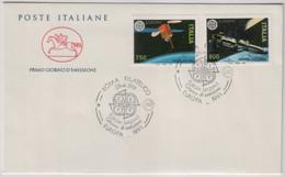 """Italia - 1991 - FDC Cavallino """"Europa"""" S. 2v Su 1 Busta MNH** - F.D.C."""